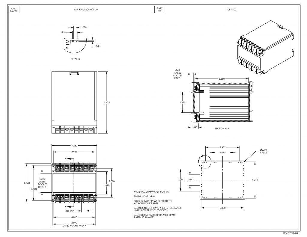 DB-4702 Dimensions