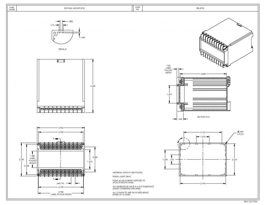 DB-4703 Dimensions