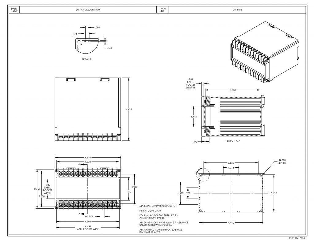 DB-4704 Dimensions