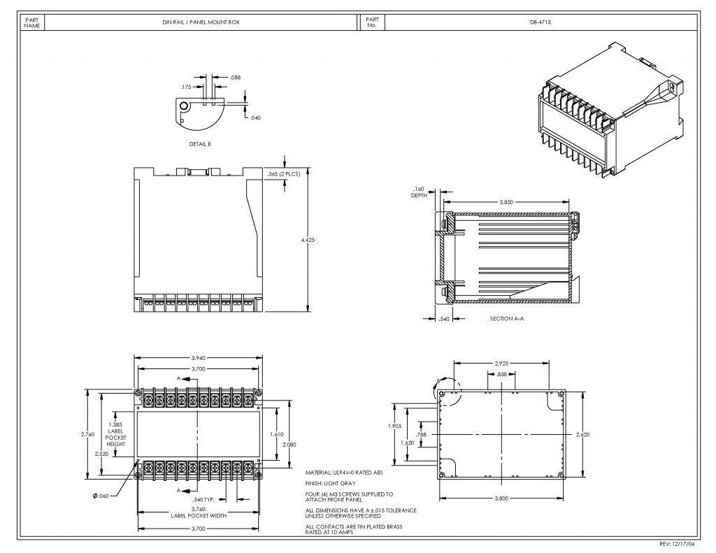 DB-4713 Dimensions
