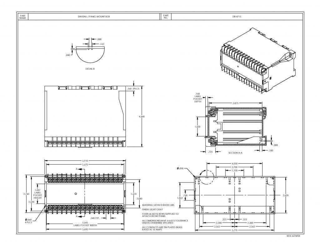 DB-4715 Dimensions