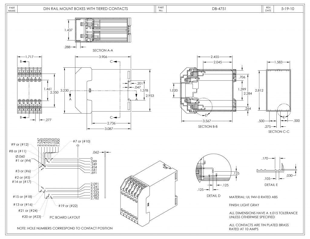 DB-4751 Dimensions
