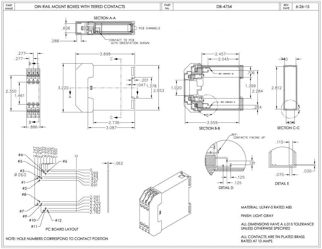 DB-4754 Dimensions