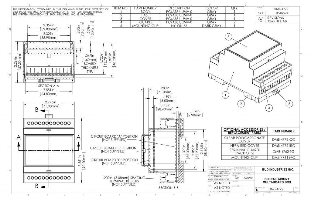 DMB-4772 Dimensions