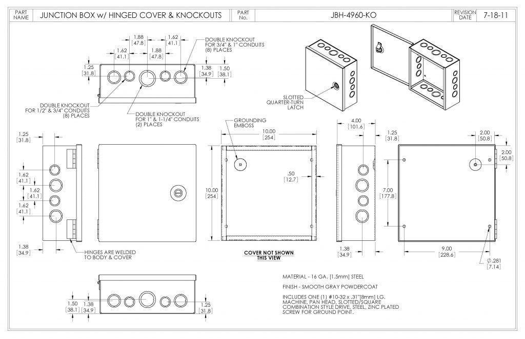 JBH-4960-KO Dimensions