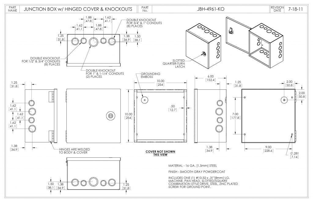 JBH-4961-KO Dimensions