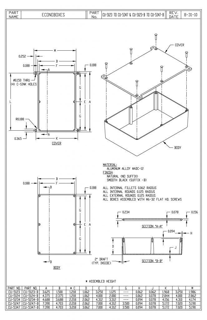 CU-5347-B Dimensions