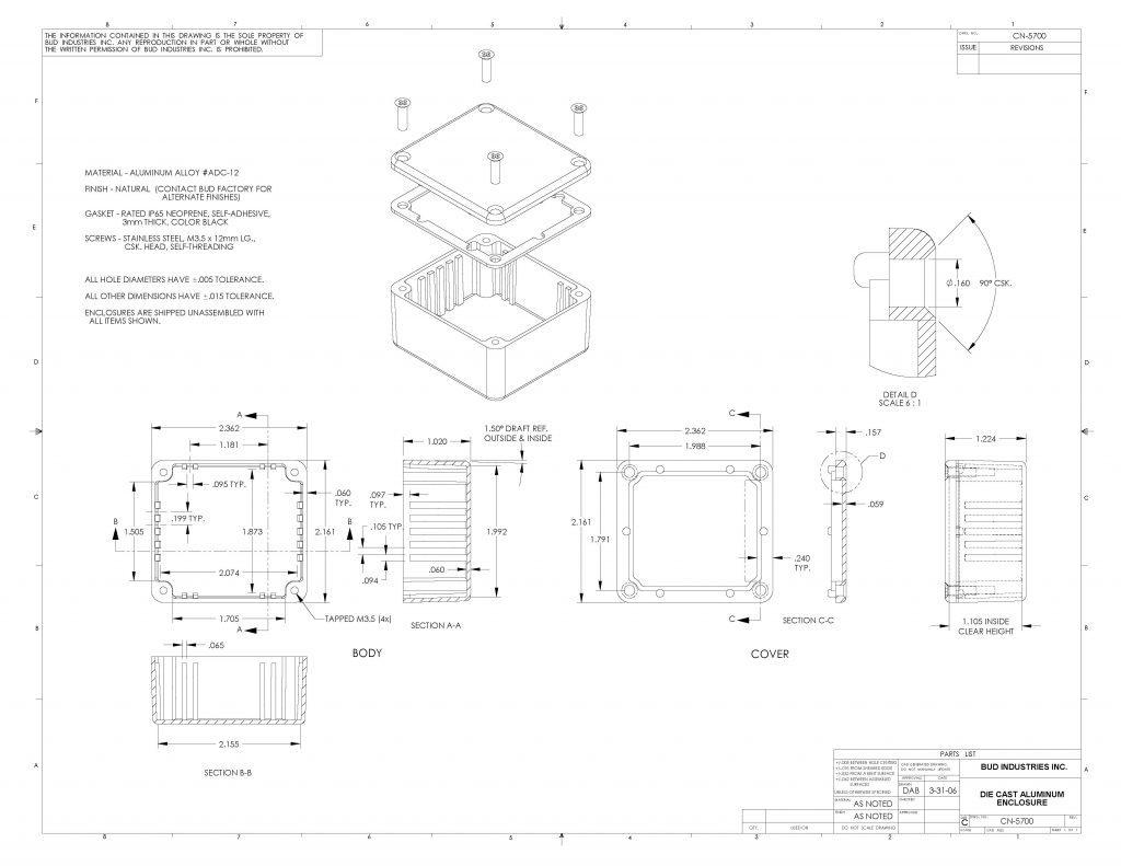CN-5700 Dimensions