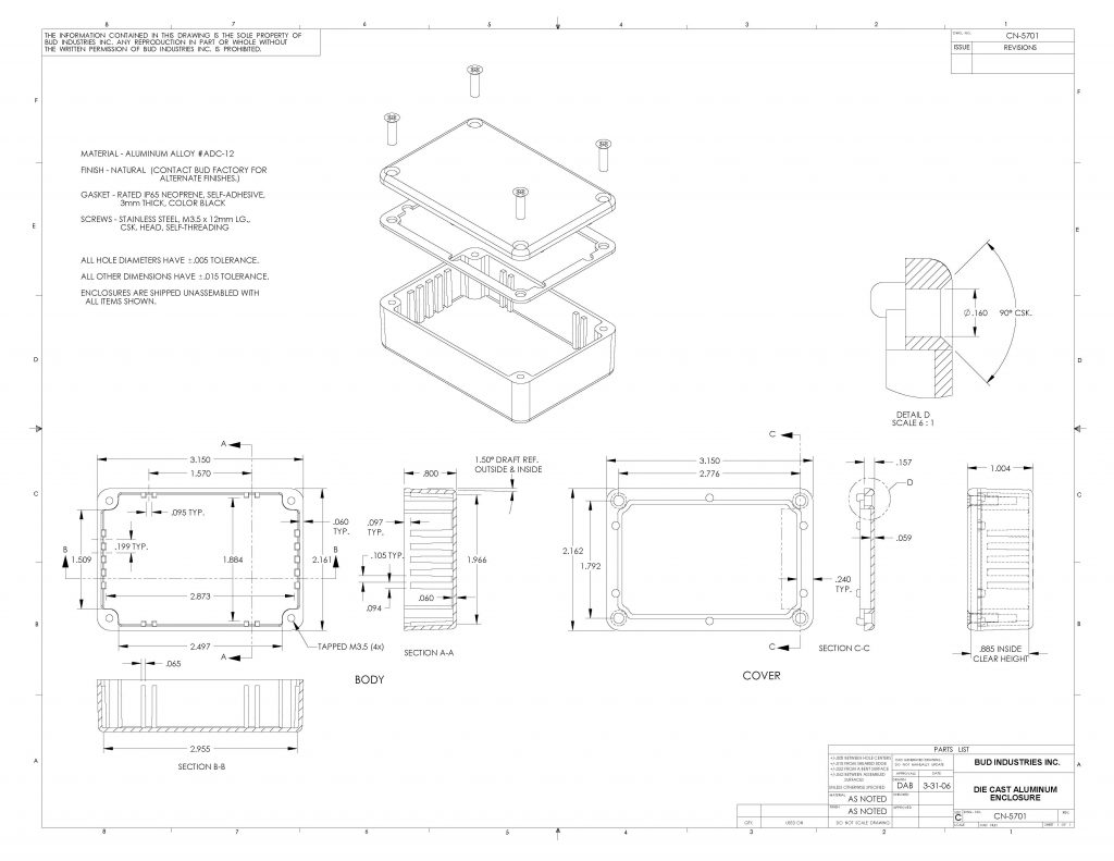 CN-5701 Dimensions