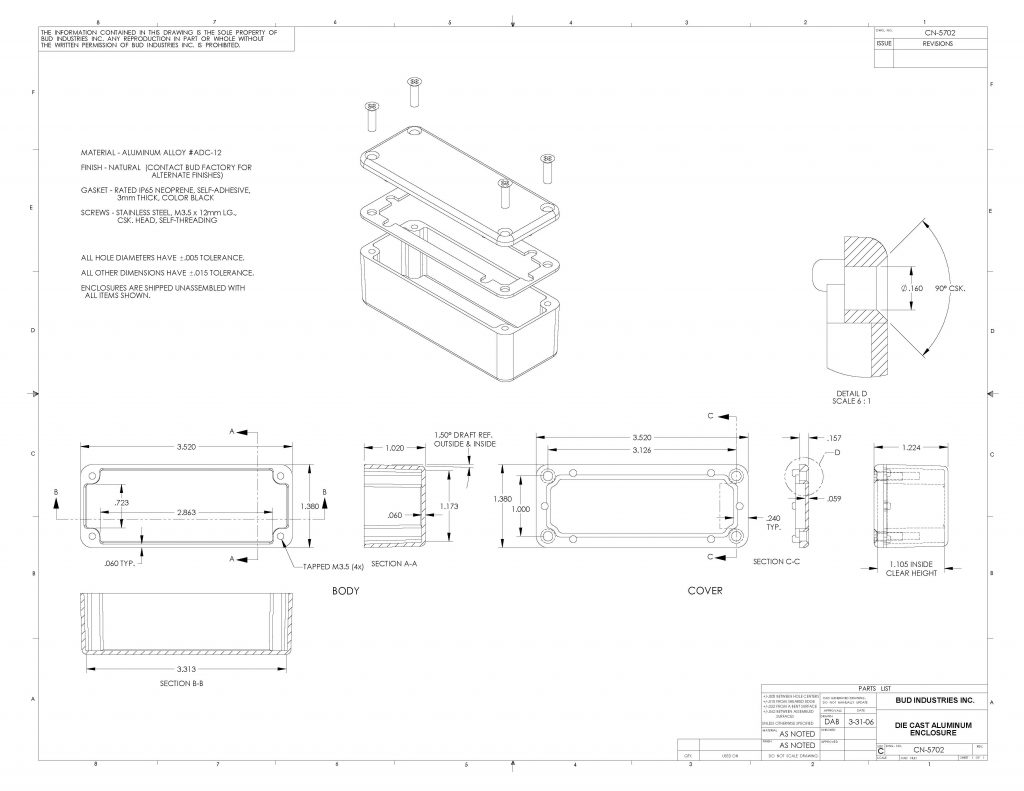 CN-5702 Dimensions