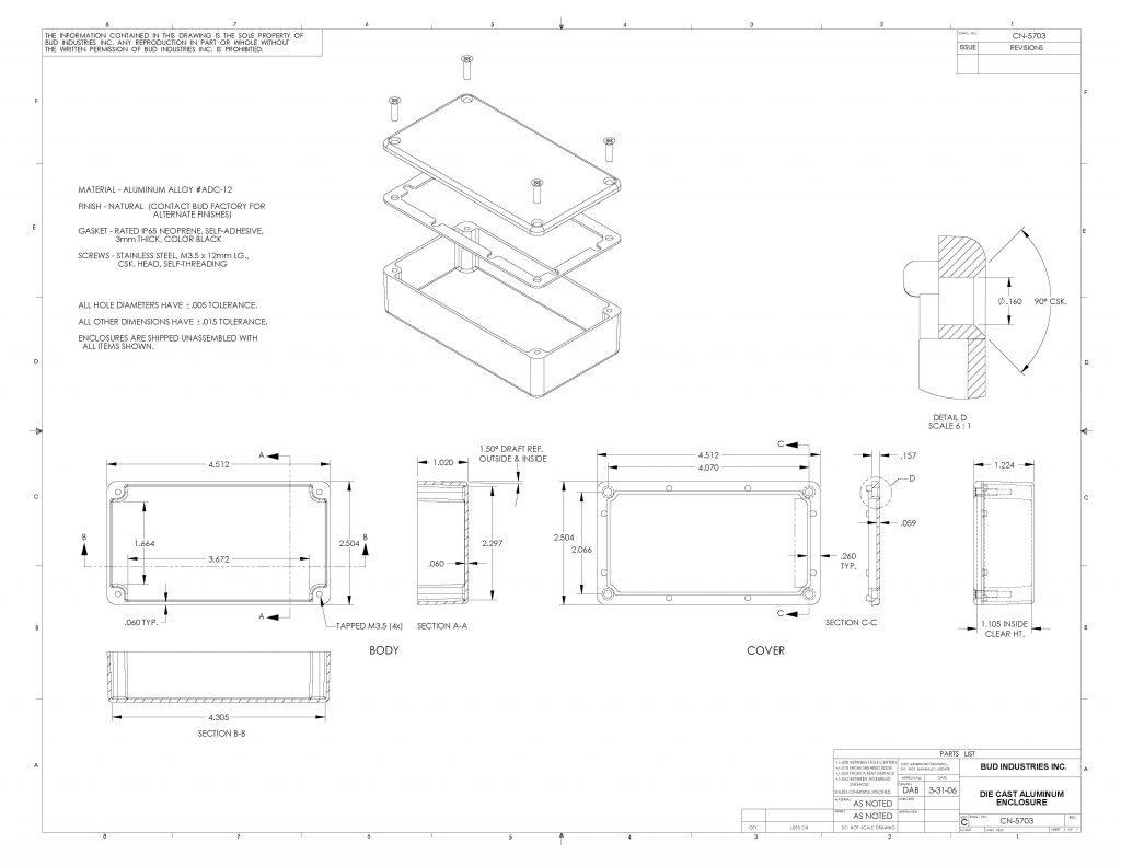 CN-5703 Dimensions