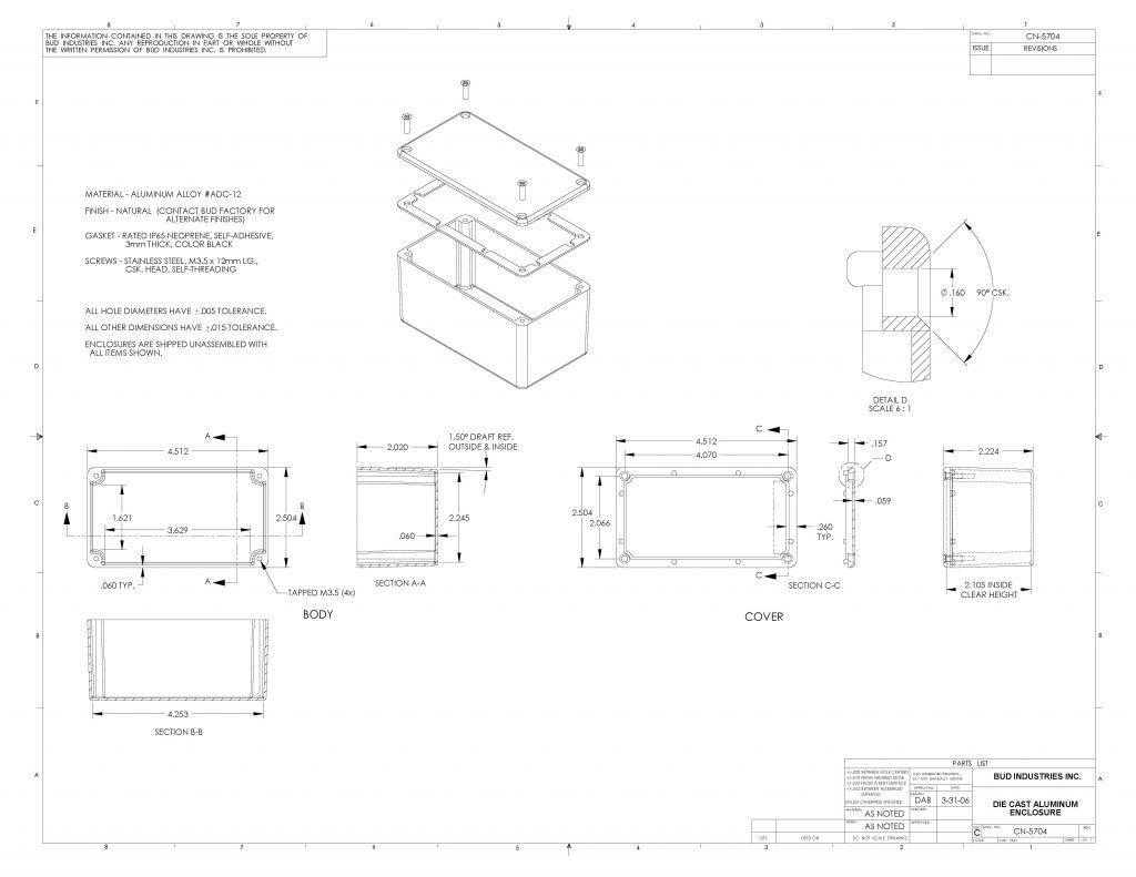 CN-5704 Dimensions