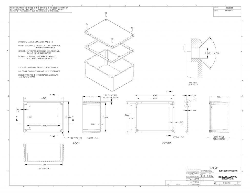 CN-5705 Dimensions
