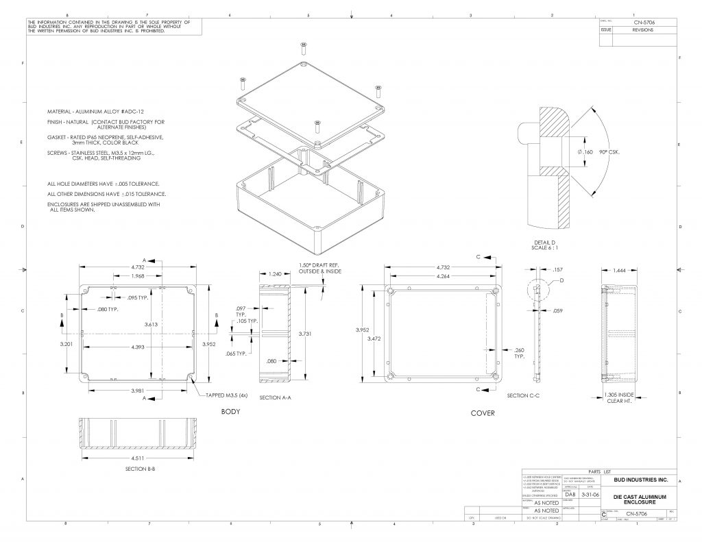 CN-5706 Dimensions