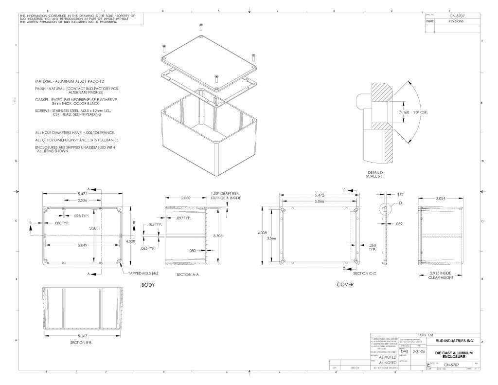 CN-5707 Dimensions