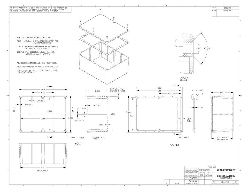 CN-5708 Dimensions