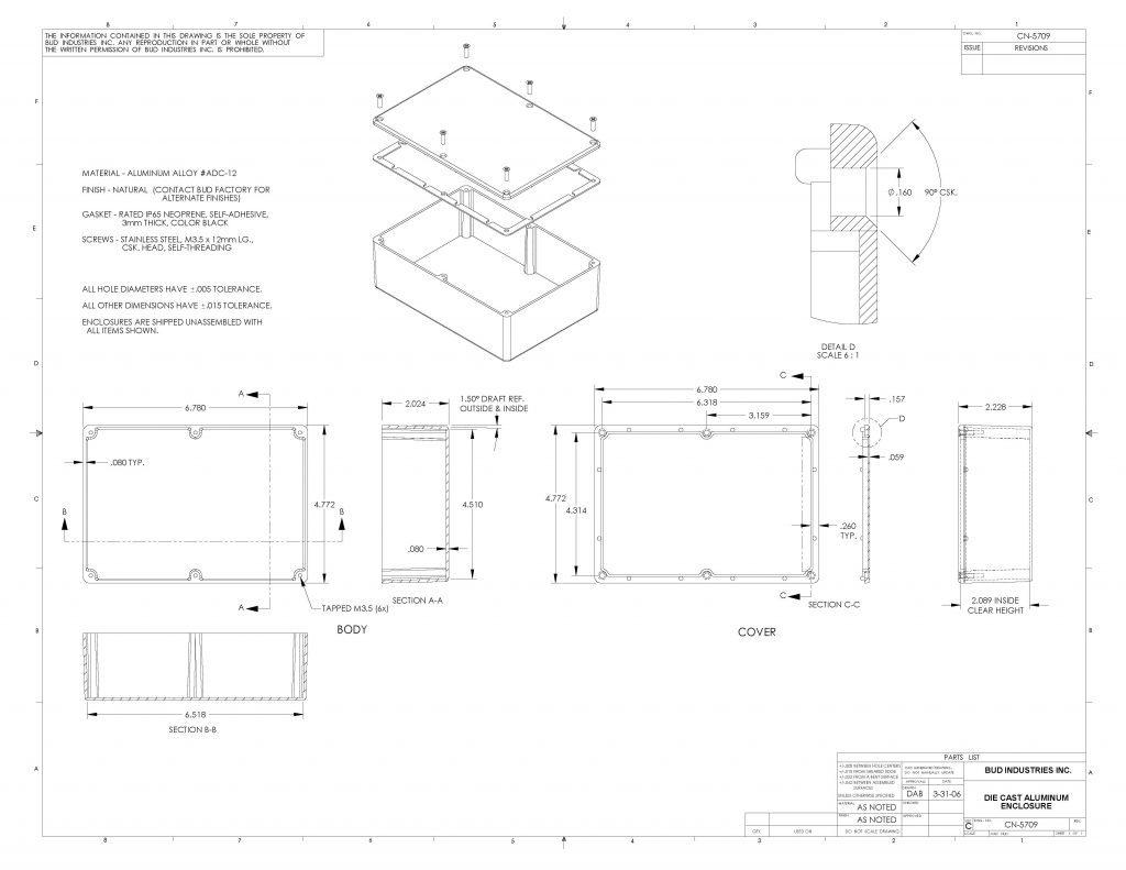 CN-5709 Dimensions