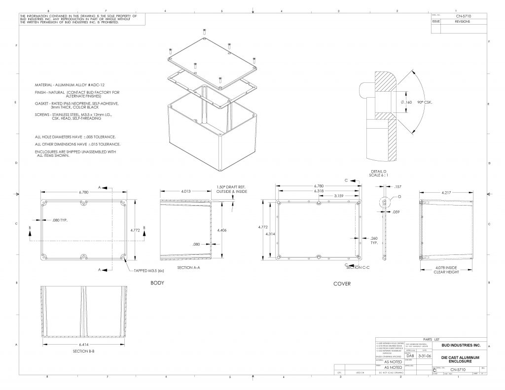 CN-5710 Dimensions