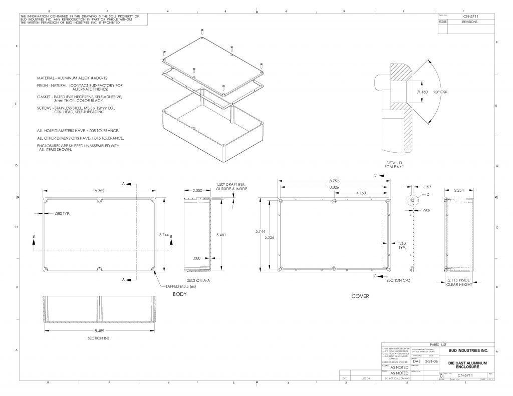 CN-5711 Dimensions