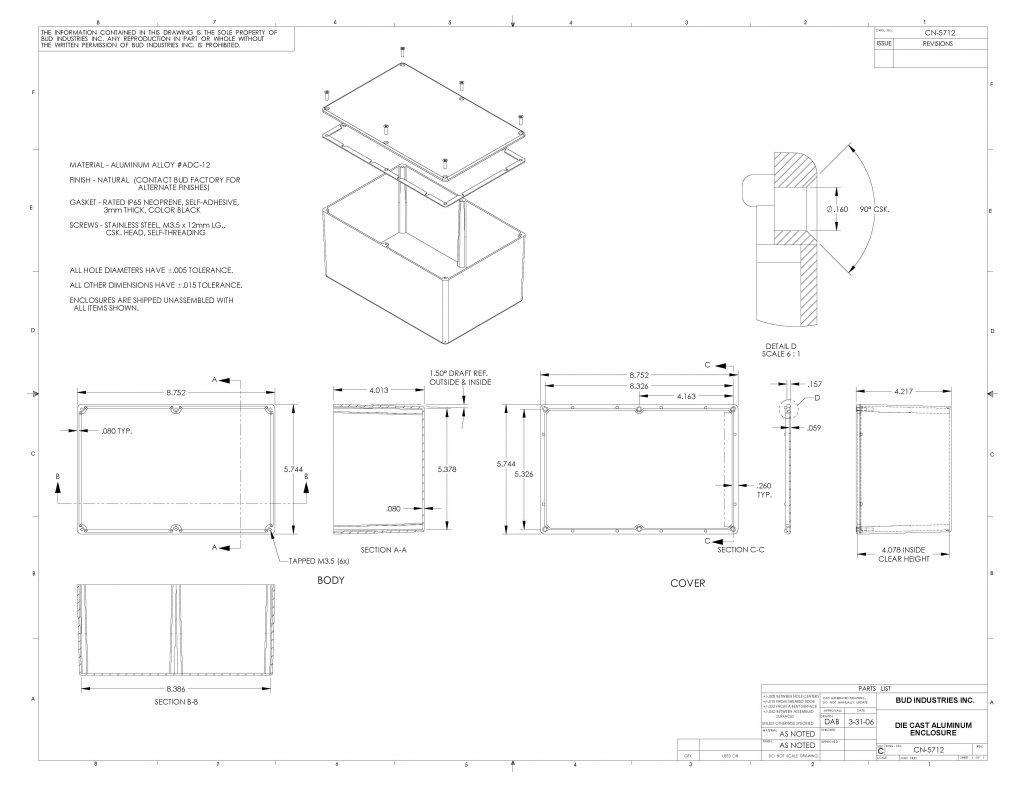 CN-5712 Dimensions
