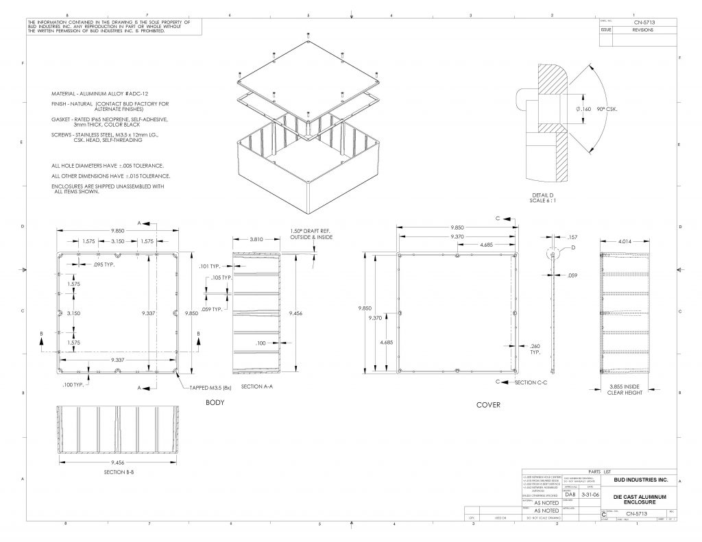 CN-5713 Dimensions