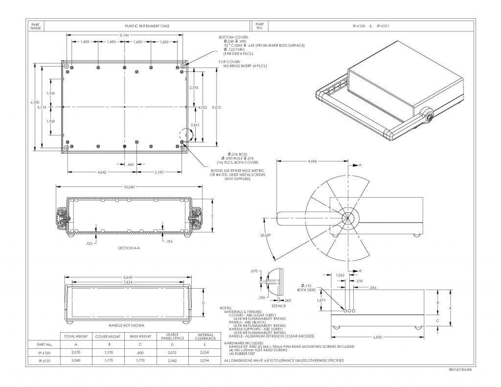 IP-6130 Dimensions