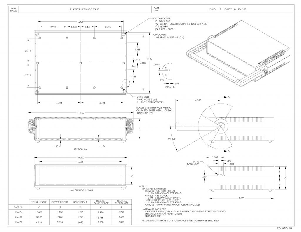 IP-6138 Dimensions