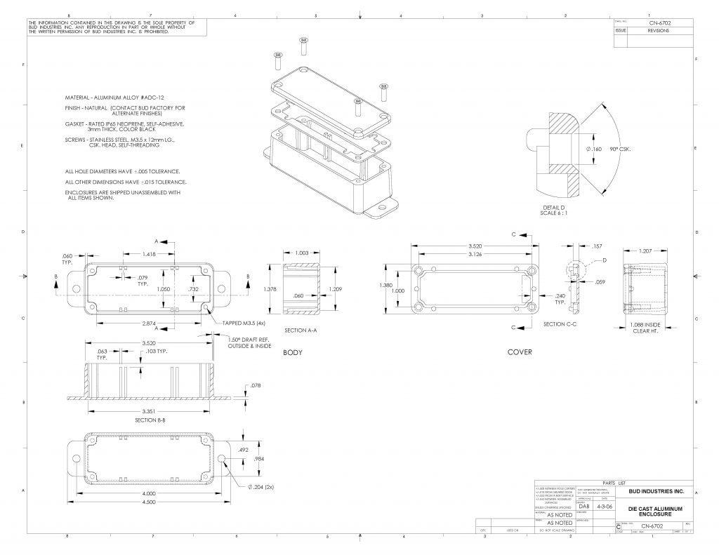CN-6702 Dimensions