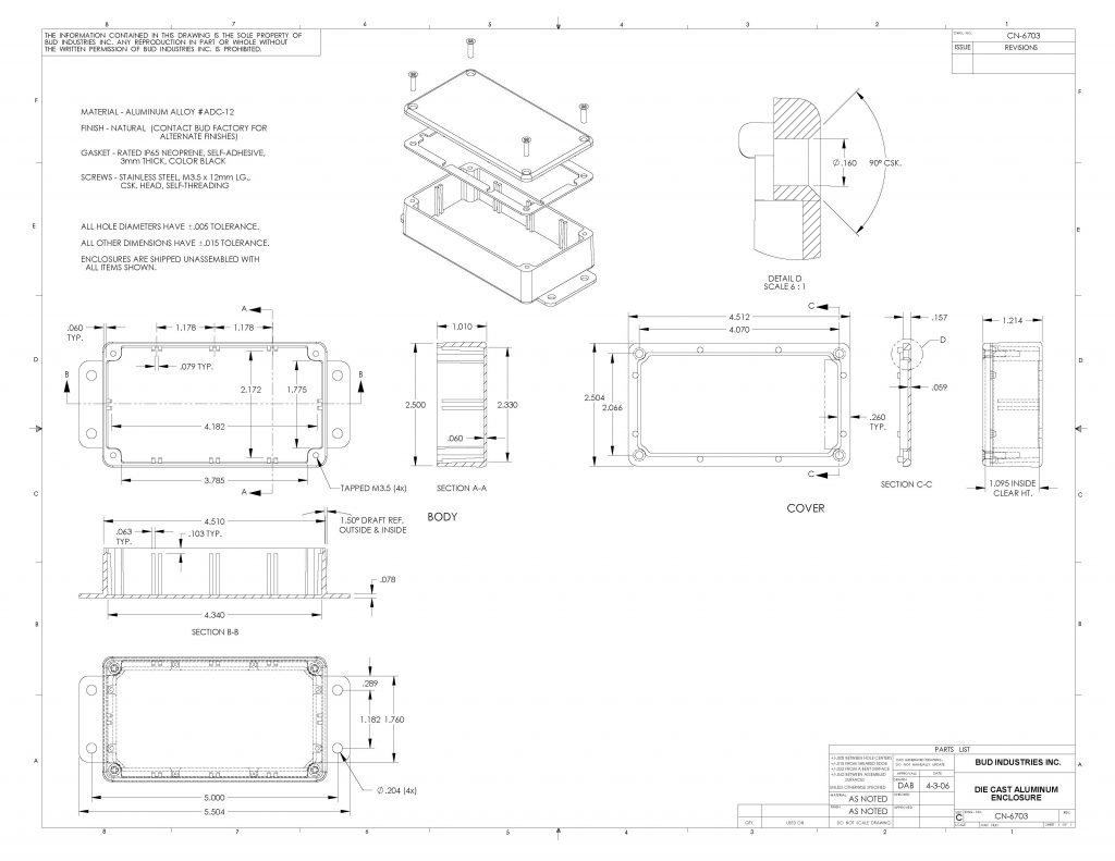 CN-6703 Dimensions