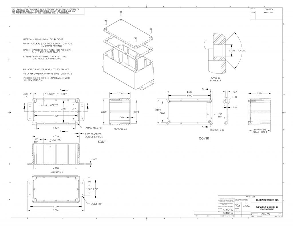 CN-6704 Dimensions