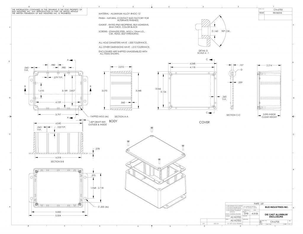 CN-6705 Dimensions