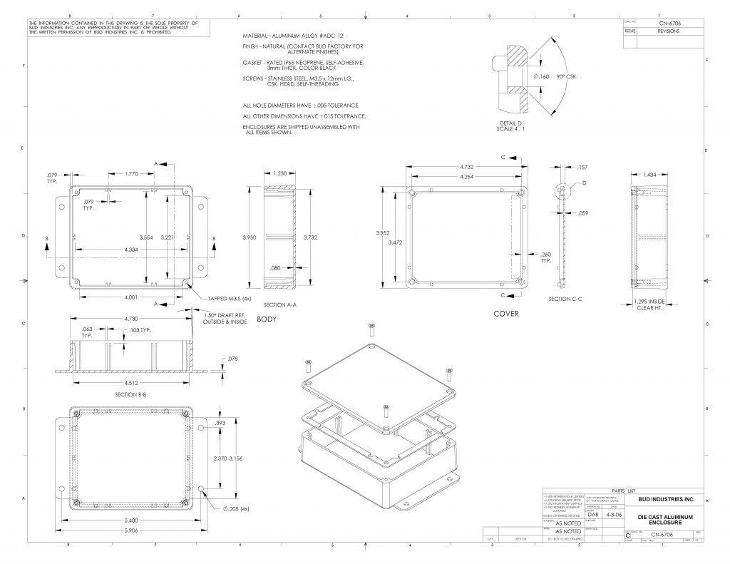 CN-6706 Dimensions