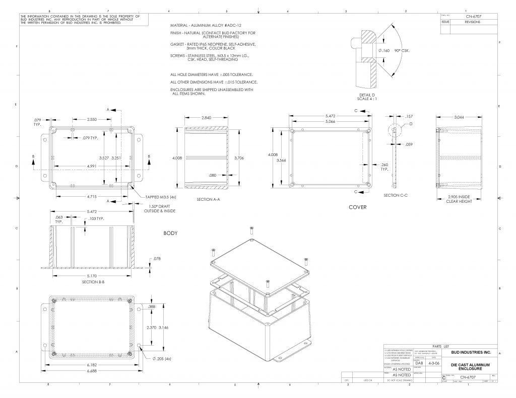 CN-6707 Dimensions