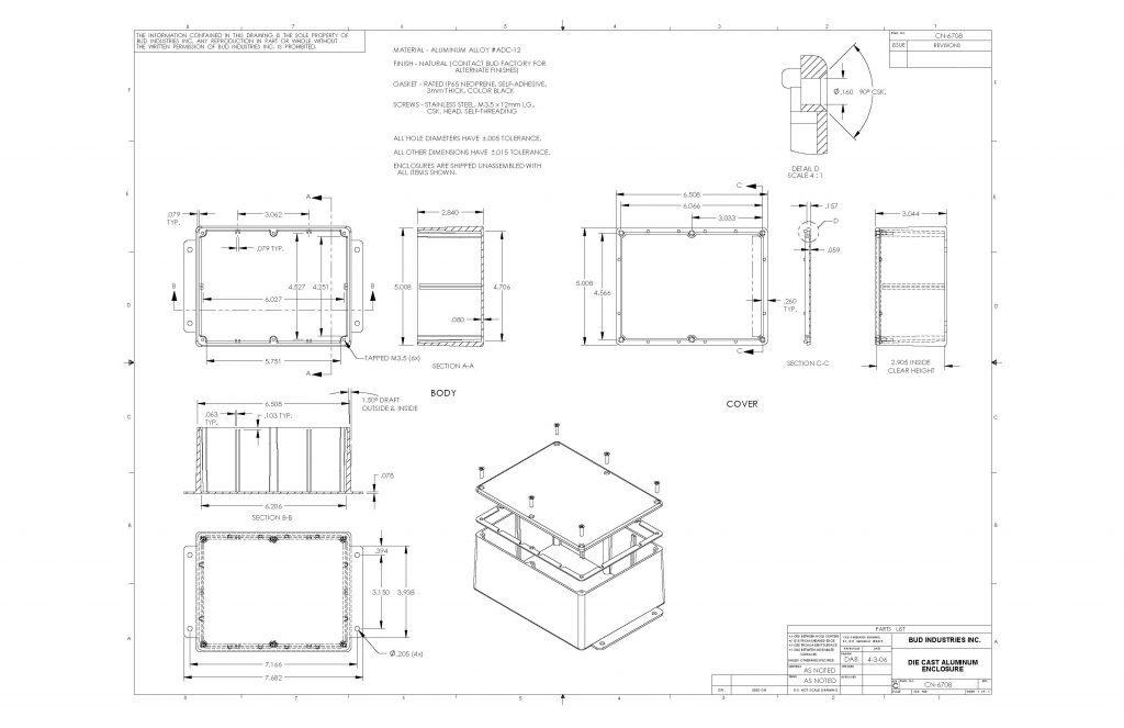 CN-6708 Dimensions
