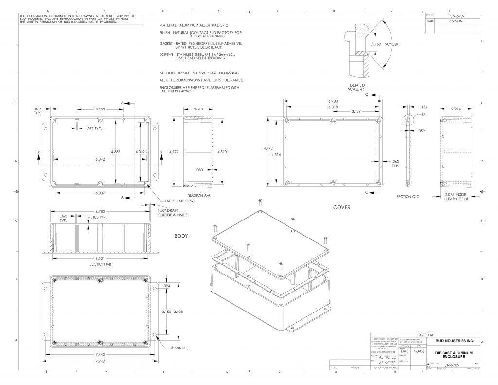 CN-6709 Dimensions