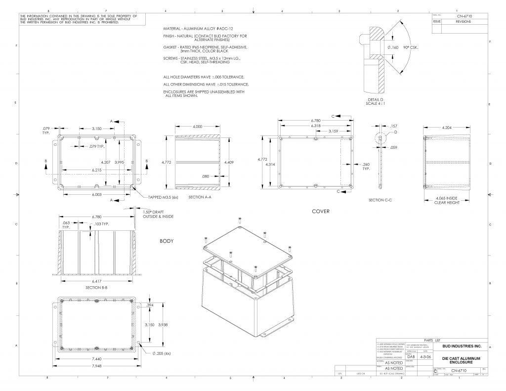 CN-6710 Dimensions