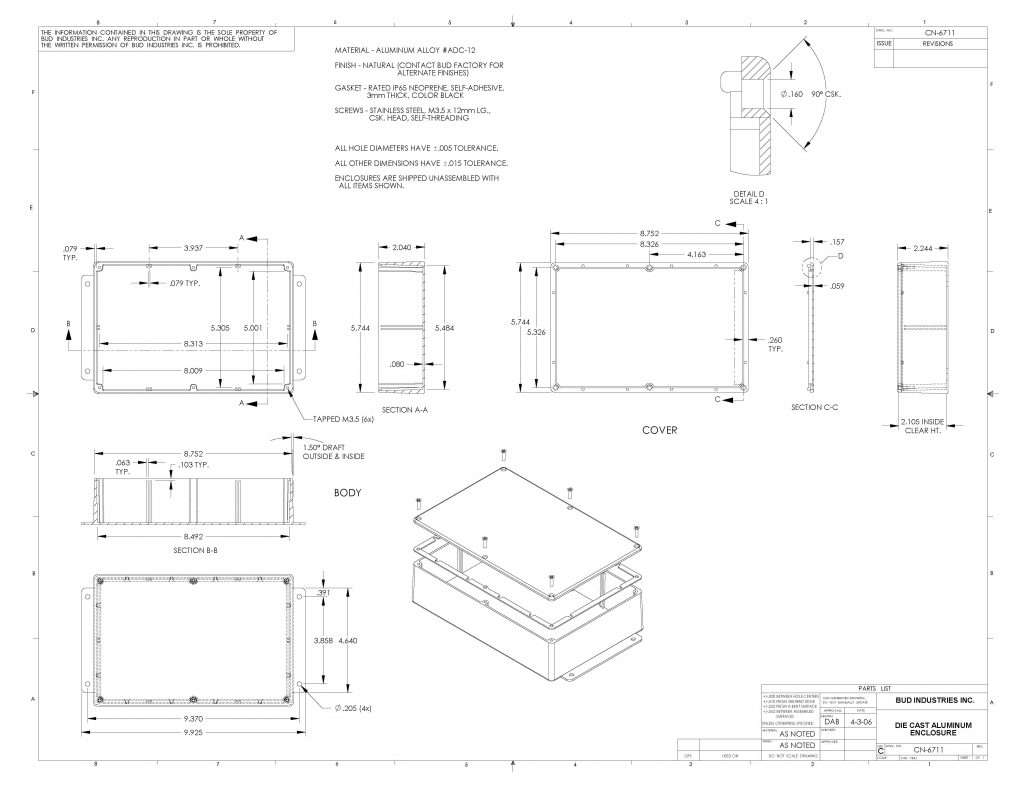 CN-6711 Dimensions