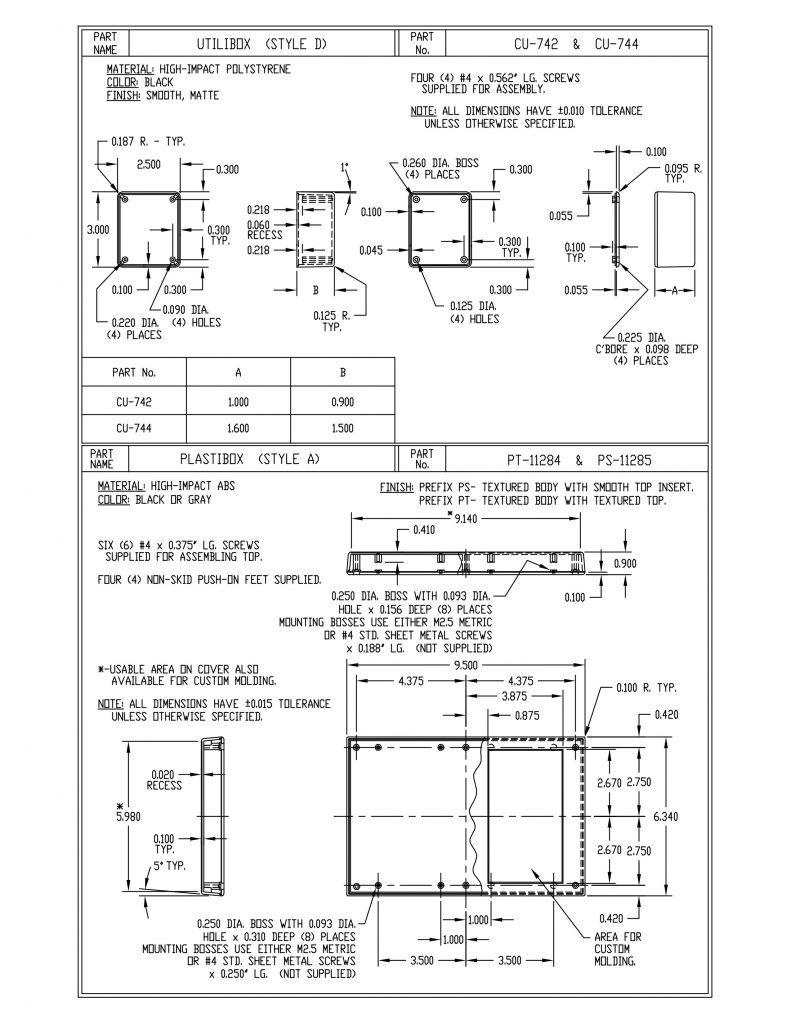 CU-742 Dimensions