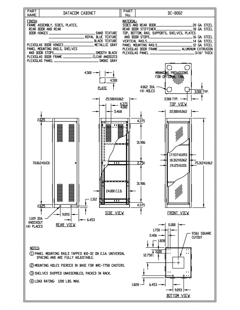DC-8002-RB Dimensions