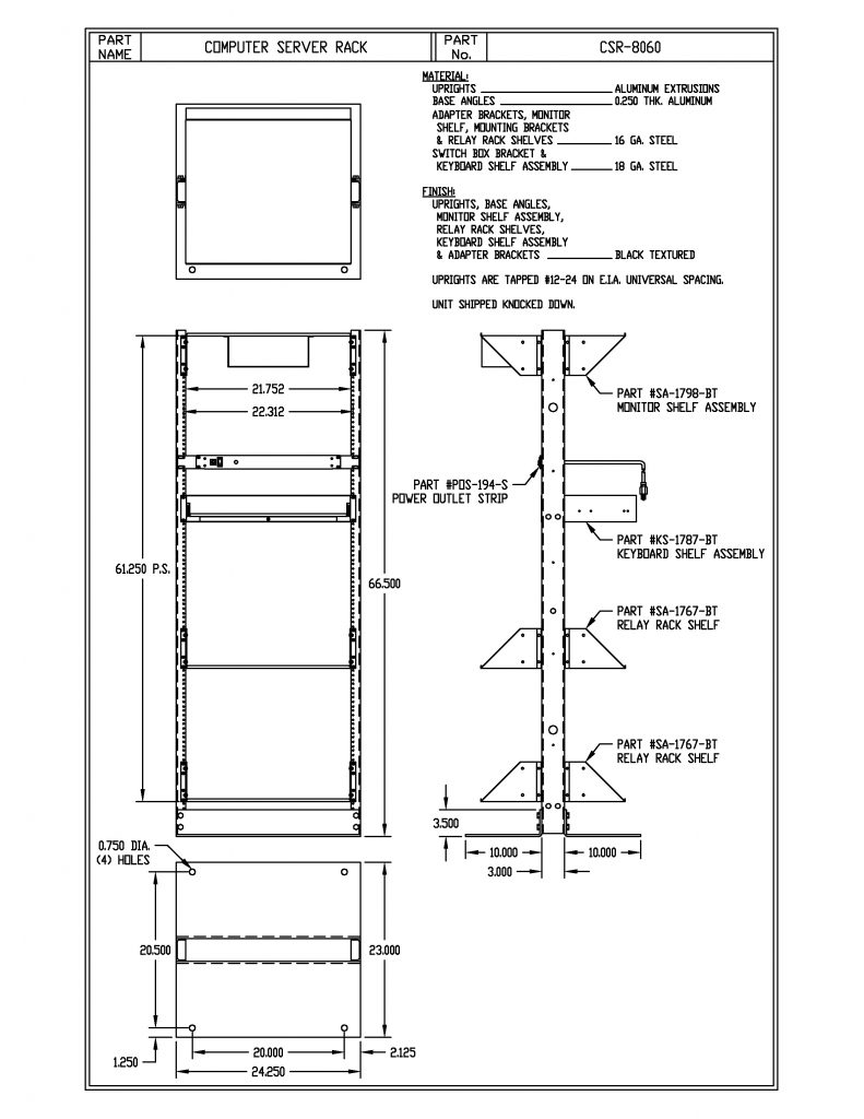 CSR-8060 Dimensions