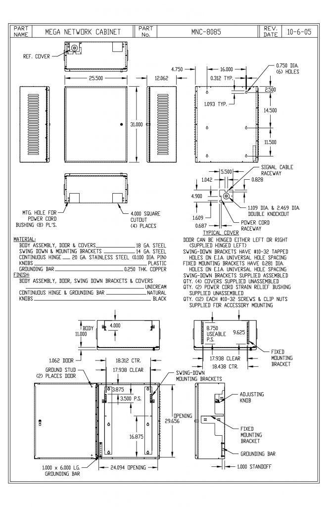 MNC-8085 Dimensions