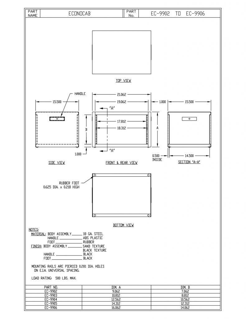 EC-9905-S Dimensions