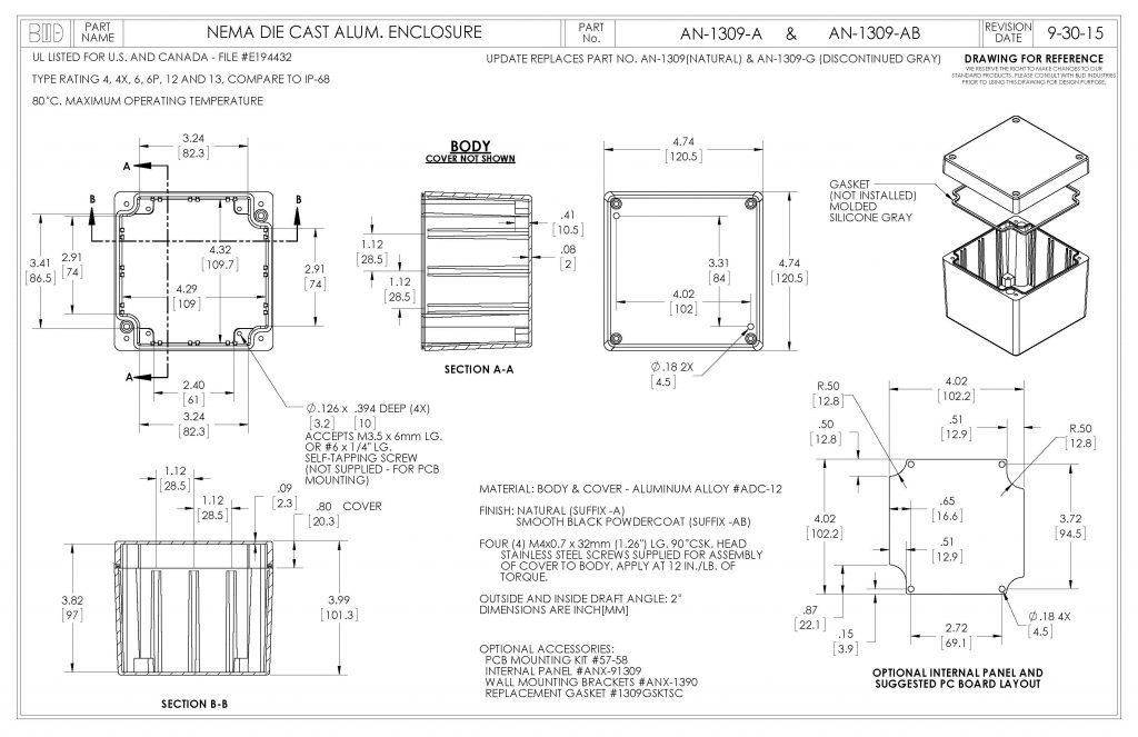 AN-1309-A Dimensions