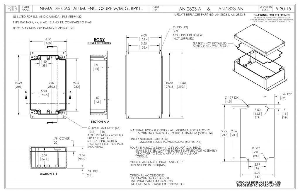 AN-2823-A Dimensions