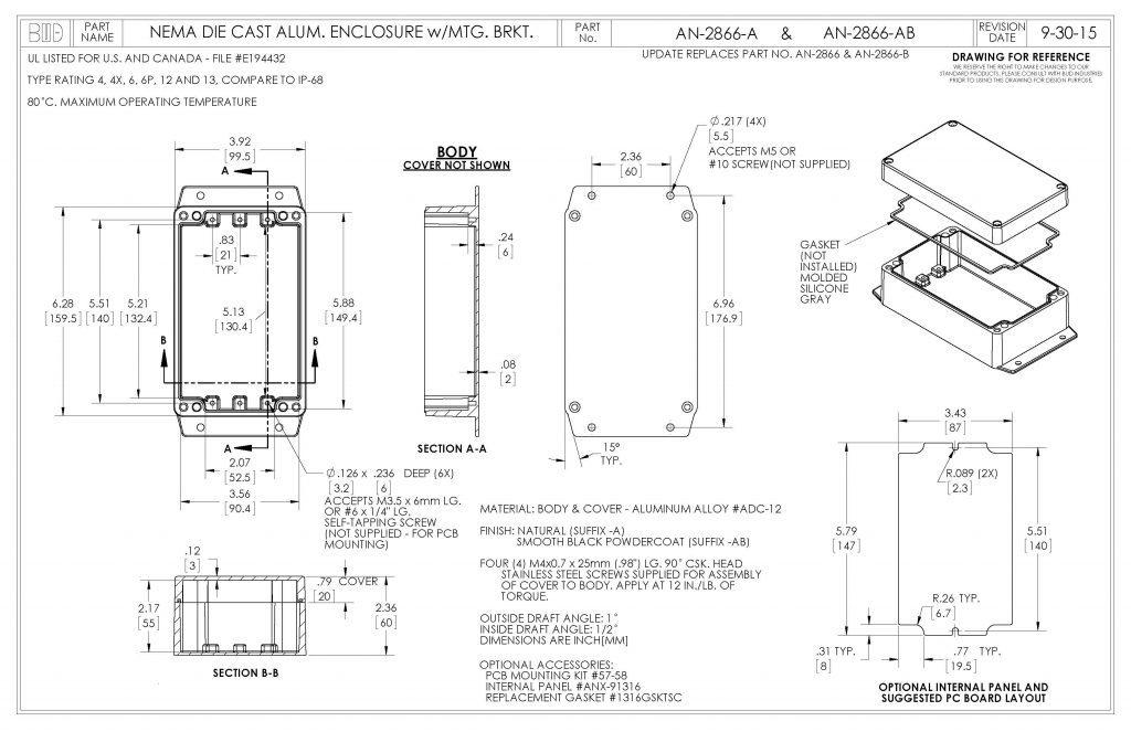 AN-2866-A Dimensions