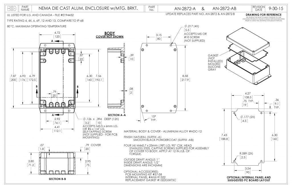 AN-2872-A Dimensions