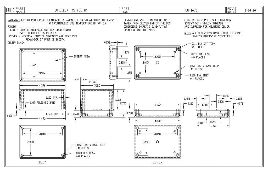 CU-1476 Dimensions