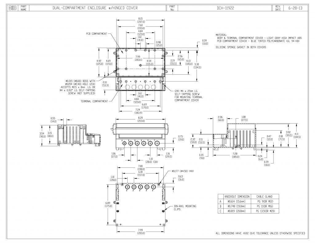 DCH-11922 Dimensions