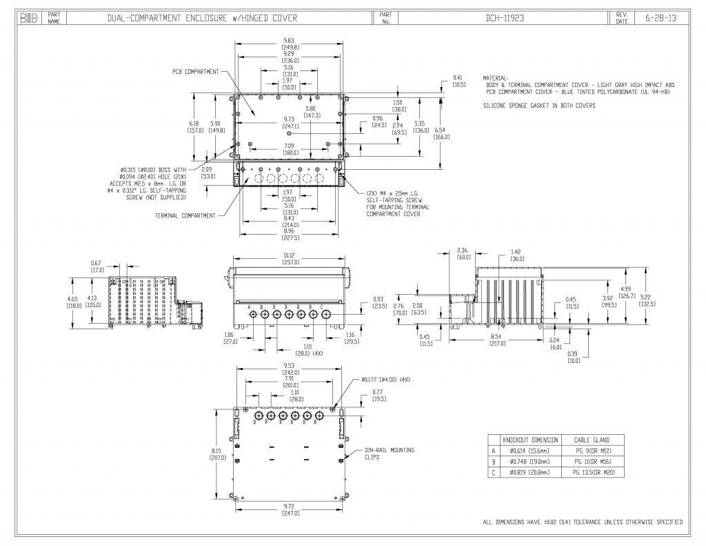 DCH-11923 Dimensions