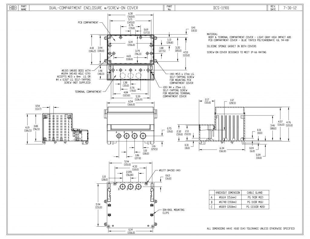 DCS-11901 Dimensions